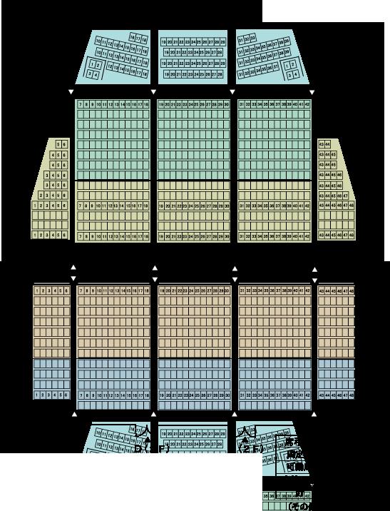 大ホール座席表(座席からの見え方)