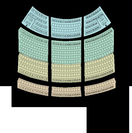 小ホール座席表(座席からの見え方)