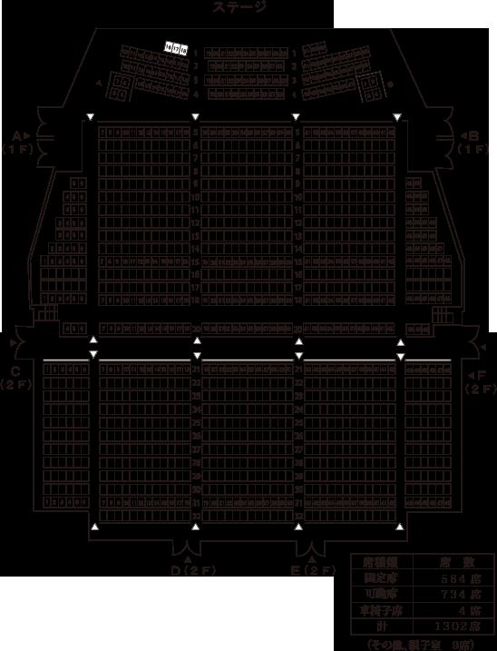 大ホール座席表(基本型)