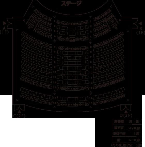 小ホール座席表(基本型)